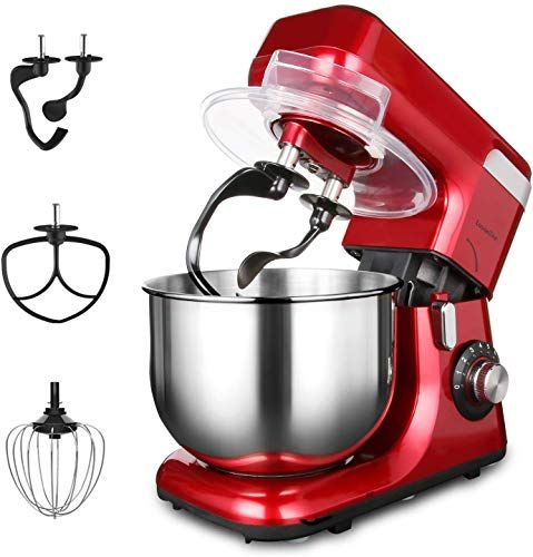 New Stand Mixer Lasantec Dough Mixer 550w 5 5l Stainless Steel Bowl 8 Speeds Kitchen Electric Mixer Double Dough Hooks Wire Whip Flat Beater Pouring Shield A In 2020 Stainless Steel Bowl Mixer Kitchen Electrics