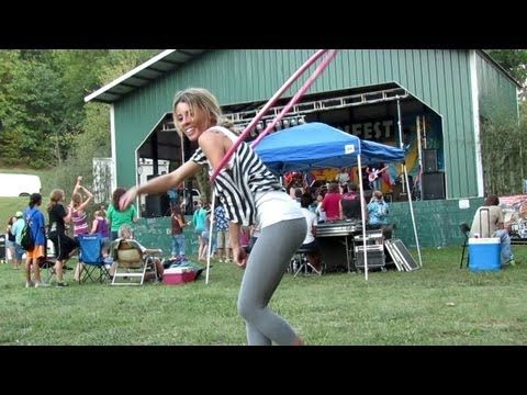 Katie Sunshine must have the most views on YouTube of any hooper. A lot of the comments seem focused on her sex appeal, which is of no interest to me personally, but her hoop dancing is still a beautiful thing to watch. Plus she's a great reminder to us all how important it is to smile, smile, smile.