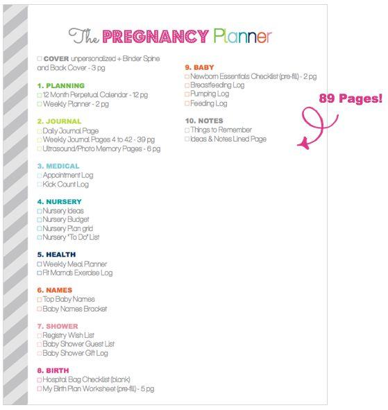 Pregnancy Planner- Printable