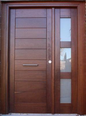 Puerta exterior madera y cristal puerta de acceso for Puertas entrada exterior