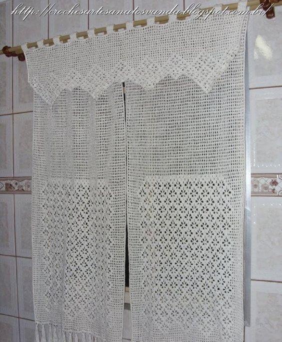 Artesanatos em croch jogos de tapetes para cozinha for Catalogo de cortinas para sala