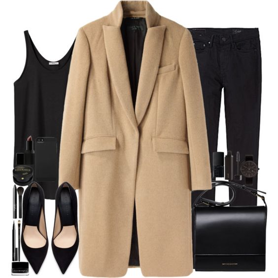 """""""camel coat"""" by chrylou on Polyvore"""