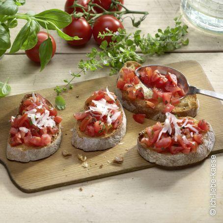 Italienisches Bruschetta mit Tomaten