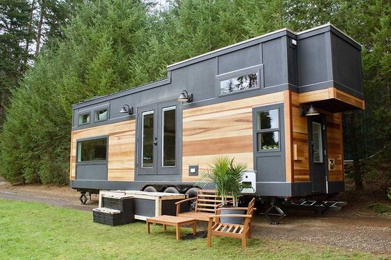 This Is The Big Outdoors Tiny House On Wheels By Tiny Heirloom Who You May Recognize From Their Hgtv Show Call Tiny Mobile House Tiny Luxury Tiny House Kitchen
