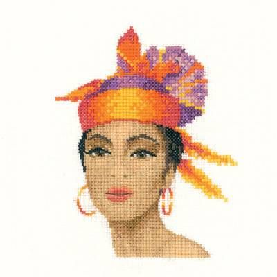 Dominique Miniature Cross Stitch Kit - £14.25 on Past Impressions | by Heritage Crafts