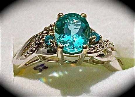 Kanchanaburi Blue Sapphire Diamond  Size 6 $60.00