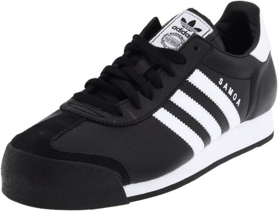 NEW ADIDAS SAMOA Originals MENS 10.5 Black White Vintage Rom  #adidas #Athletic