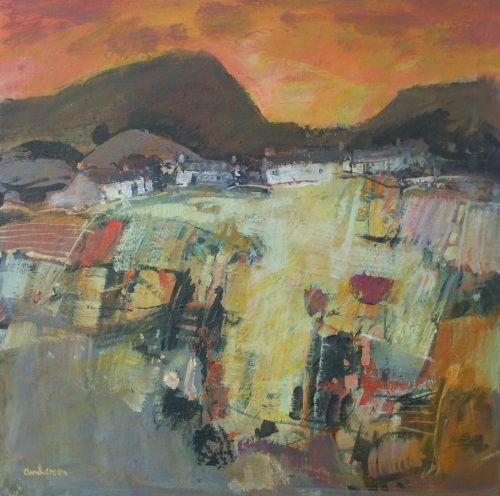 Sunset, Skye  by Charles Anderson DA RSW