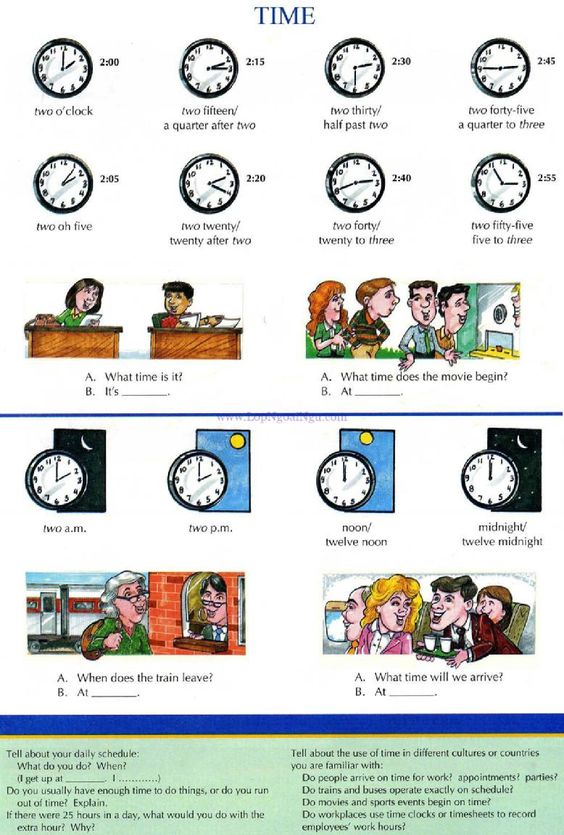 28 - TIME - Picture Dictionary - English Study, explanations, free exercises, speaking, listening, grammar lessons, reading, writing, vocabulary, dictionary and teaching materials