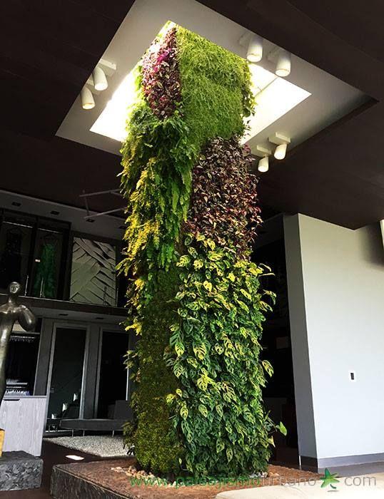 Paisajismo urbano jardines verticales pinterest for Plantas verticales de interior