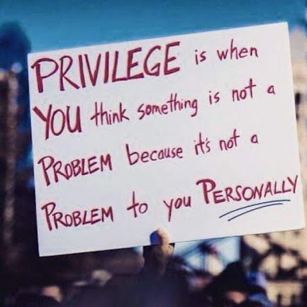 White Privilege Sign