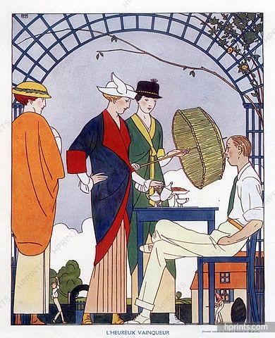 """Bernard Boutet de Monvel (Himself) 1913 """"l'Heureux Vainqueur"""", Tennis"""