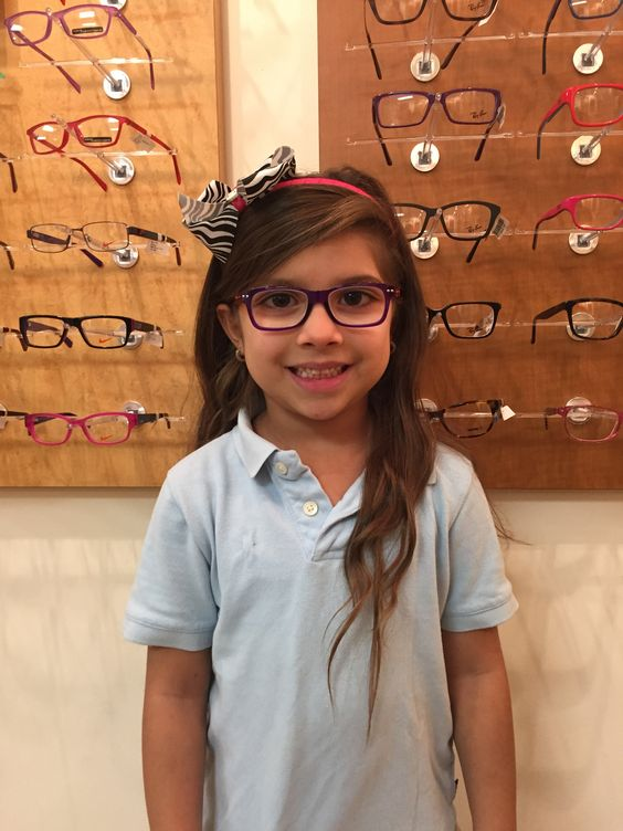 sarah age 6 is sporting her igreen frames in violetorange get