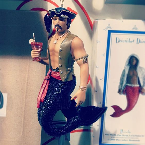 Johnny Depp Christmas ornament! #johnnydepp #depp #xmas #christmas #ornament #merman