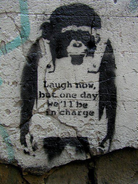 Laugh Now - Banksy