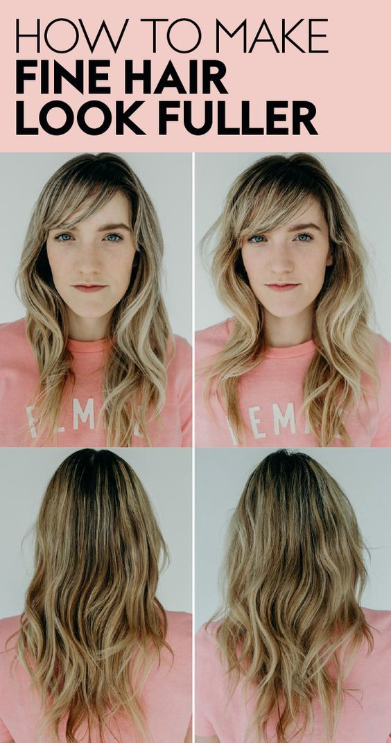 How To Get Fuller Hair Using One Styling Spray Fine Hair Hair Hacks Prom Makeup Looks