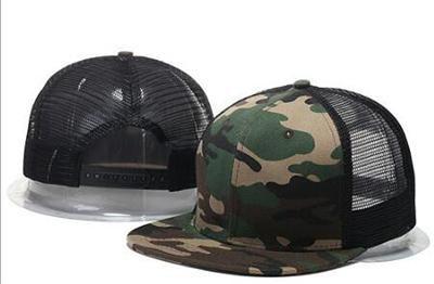 Trucker Hat Mesh Baseball Cap Snapback Adjustable Flat Visor Hip Hop Men Women
