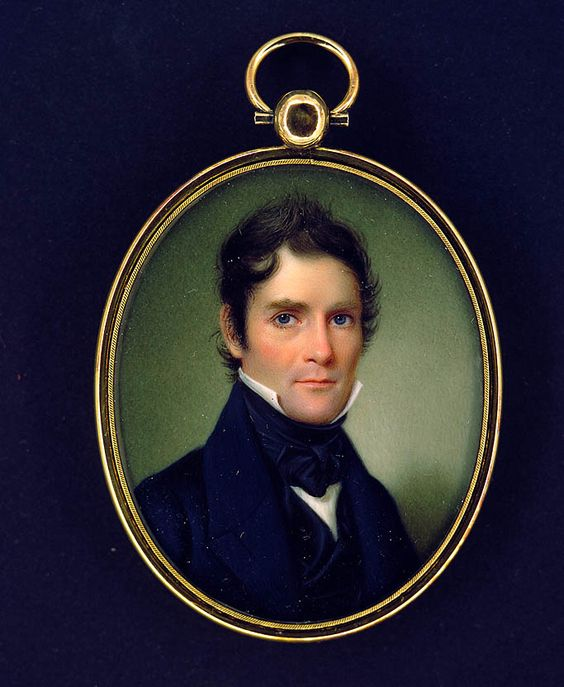 John Wood Dodge, Colonel Elijah Rice, 1839, watercolor on ivory, Smithsonian American Art Museum