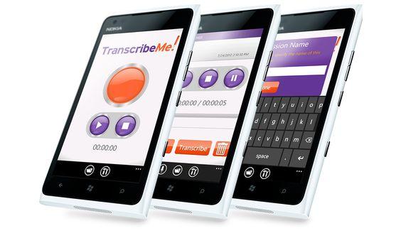 Transcriber for Windows Phone  Technologies: Silverlight, C#, Microsoft Azure, SQL Azure, WCF, XAML, Windows Phone, Microsoft Visual Studio 2008/2010/2012, .Net Framework, Entity Framework, MVVM, MVP, UI, UX