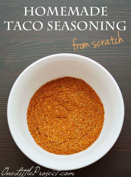 Tacos, Homemade and Homemade taco seasoning on Pinterest