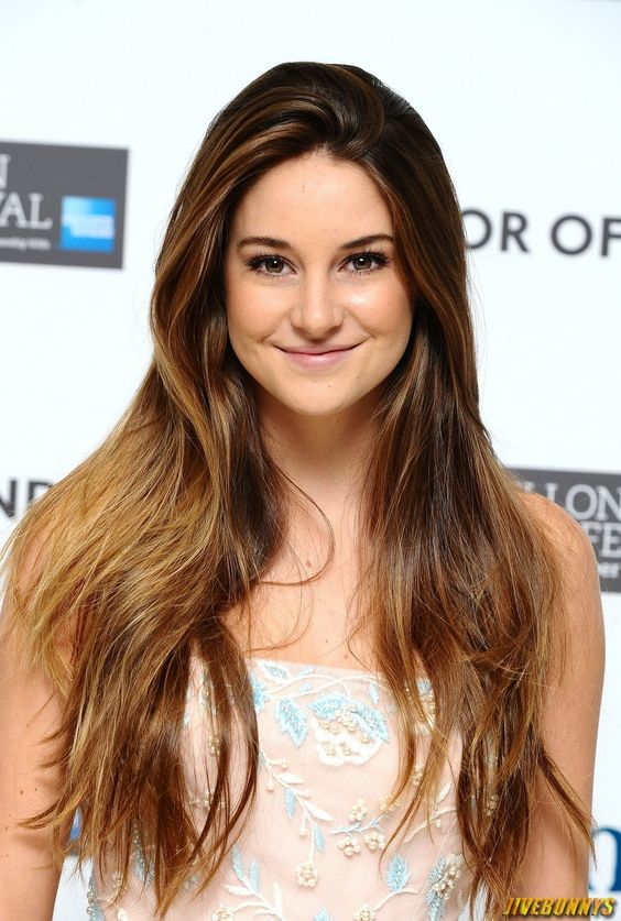 Shailene Woodley- I love love, love her hair! I'm growing mine out like this!!!! She's gorgeous