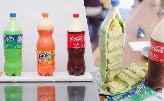 Soda Cakes, les gâteaux en forme de bouteilles de soda