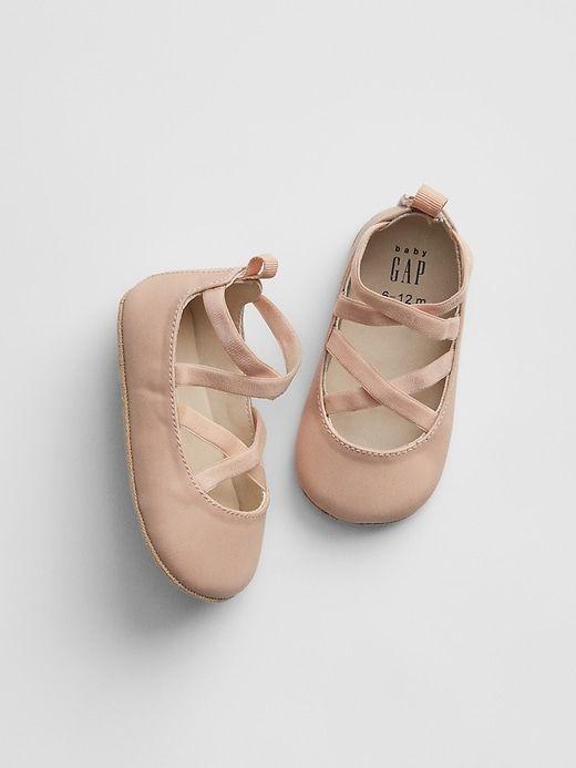 Gap Babies' Strappy Ballet Flats Pink