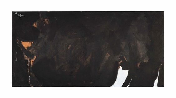 ROBERT MOTHERWELL Les Caves IV Acrylic on canvas