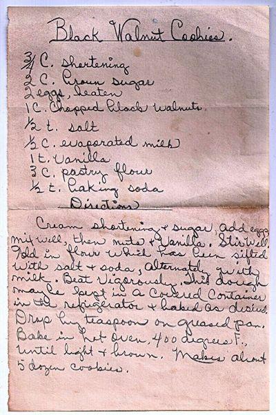 Recipes for black walnut cookies