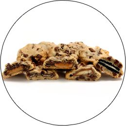 Stuffed Cookies by Sweet E's Bakeshop in LA (Andes, Oreo, Reese's, Rolo, Twix)