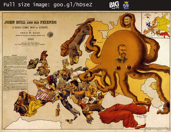 #Map of #Europe – John Bull and His Friends (1900)    http://www.bigmapblog.com/2011/john-bull-and-his-friends-1900/: 1900 Maps, Europe Maps, Caricature Maps, Maps Europe, European Maps, European Caricature, Serio Comic European