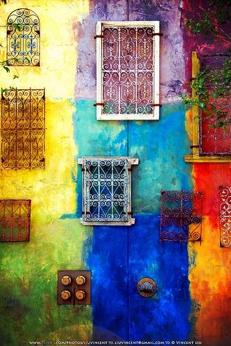 Love the colors: Color Wall, Wall Color, Doors Windows, Rainbow Wall, Italy Window
