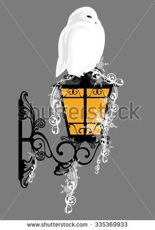 Snowy Owl Vetores e Vetores clipart Stock | Shutterstock