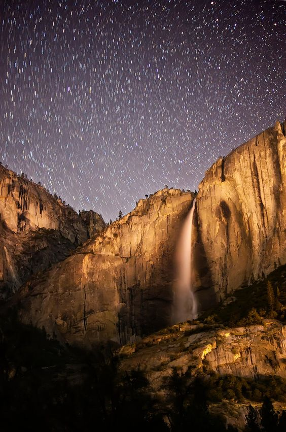 Stars over Yosemite National Park