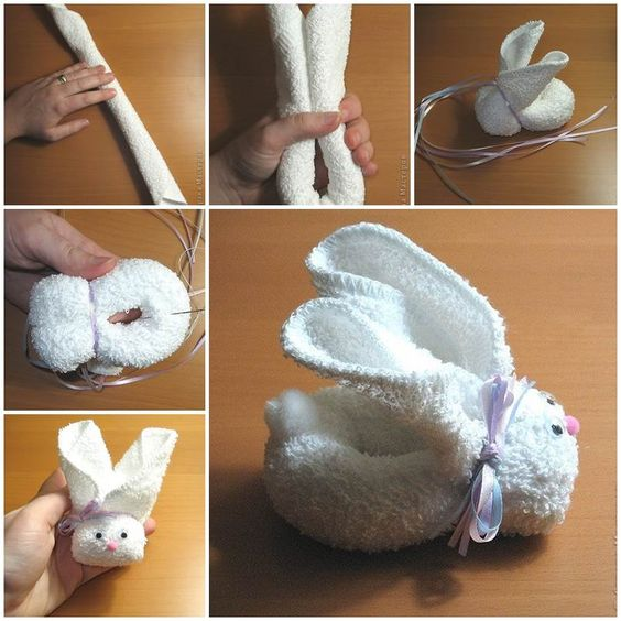 Here is a super easy and creative way to make an adorable bunny from a towel! Make one to delight yourself or your kids. You can also work with your kids on it. I am sure they will love this lovely towel bunny that's made with their own hands. You can choose different …: