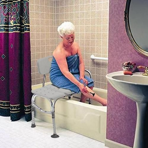 Adjustable Shower Chair Bathtub Transfer Bench For Seniors