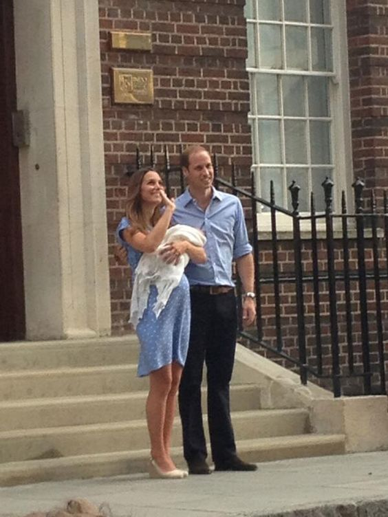 The Duke & Duchess of Cambridge leave hospital with their baby son.
