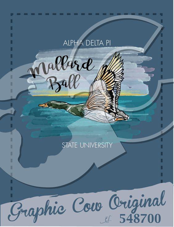 Mallard Ball duck painting lake #grafcow                              …