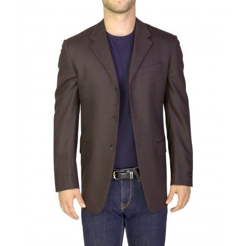 AUTH $1800 BROWN PRADA 3 BUTTON SLIM FIT SUIT BLAZER 48R