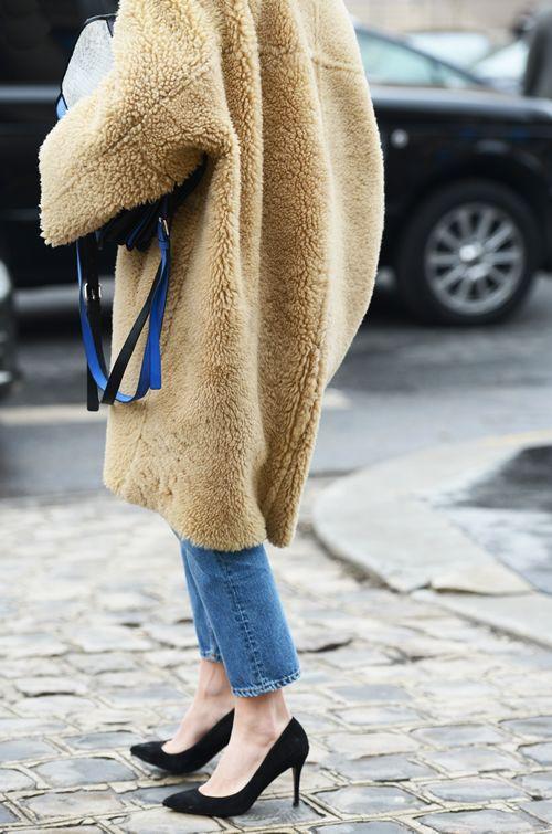 Oversized Sheepskin Coat