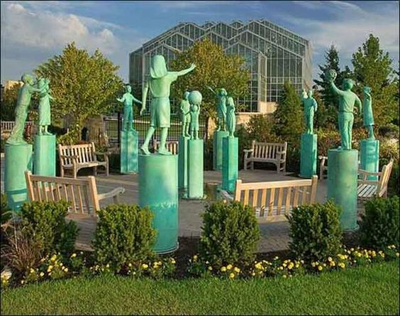 Garden Sculptures Children Garden And Public Garden On Pinterest