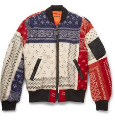 KAPITAL Patchwork Wool Bomber Jacket | Men fashion | Pinterest
