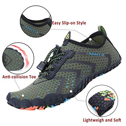 Men Women Water Shoes Quick Dry Lightweight Barefoot Drainage Sole for Swim Diving Surfing Beach Shoes