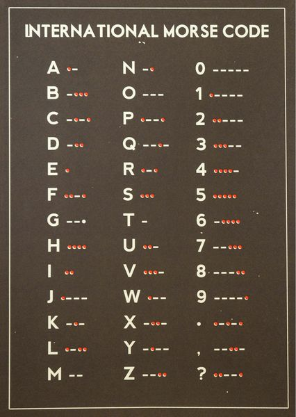 International Morse Code Más: