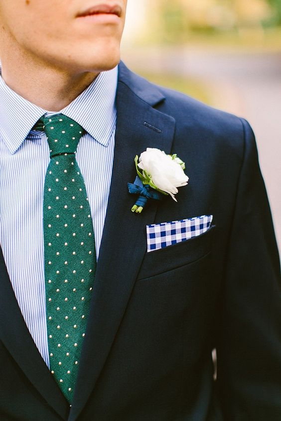 Blue green style navy suit blue striped shirt forest for Navy suit checkered shirt