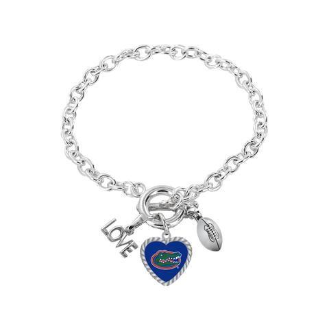 aminco NFL Kansas City Chiefs Charmed Sport Love Pendant Necklace