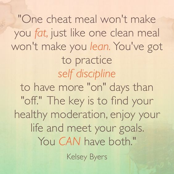 Cheat meals.....: