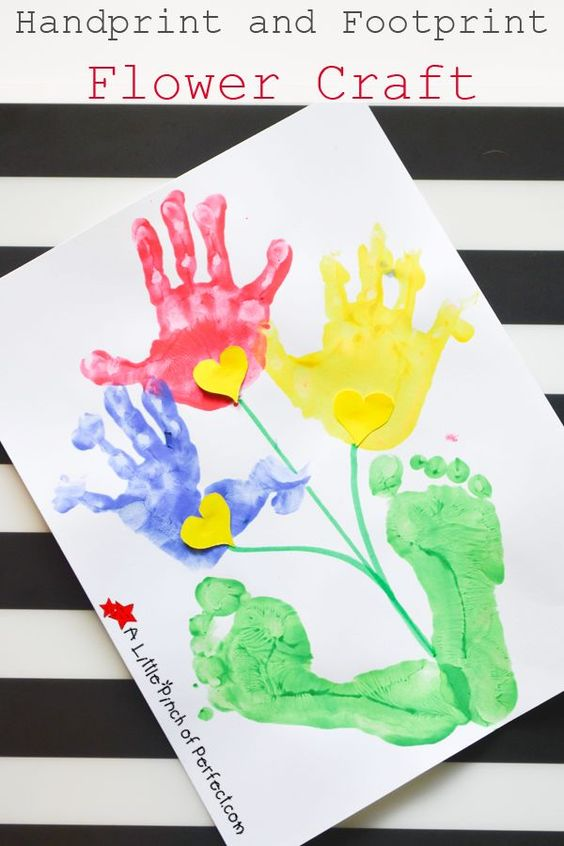 Handprint and Footprint Flower Craft for Kids (So cute for ...