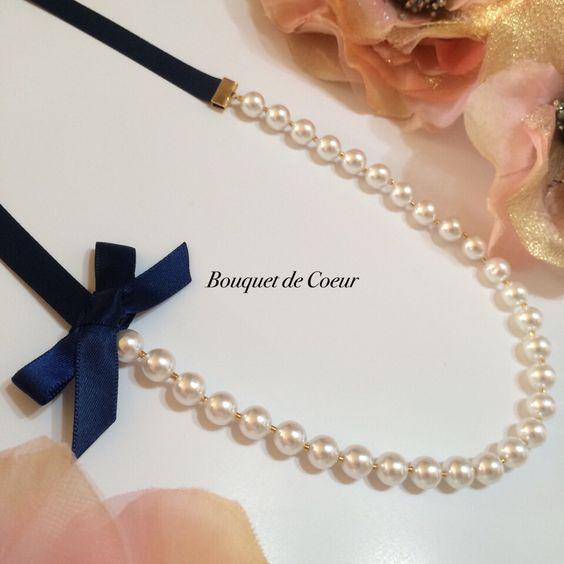 ハンドメイド♡ 2wayロングパールネックレス♡  http://s.ameblo.jp/bouquet-de-coeur/  Handmade long pearl necklace