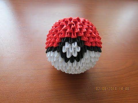 3D Origami Pokeball Tutorial - YouTube
